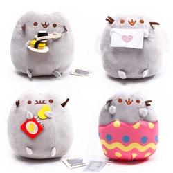 18 см PUSHEEN Kawaii Мультфильм Единорог луна печенье мороженое пончик Кот Русалка Плюшевые игрушки-животные куклы игрушки