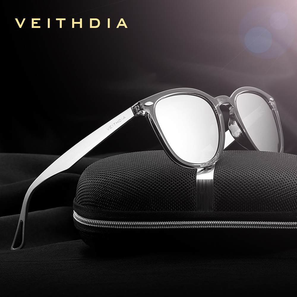 VEITHDIA Brand Unisex Aluminum+TR90 Men's Photochromic Mirror Sun Glasses Eyewear Accessories Sunglasses For Women 6116 2