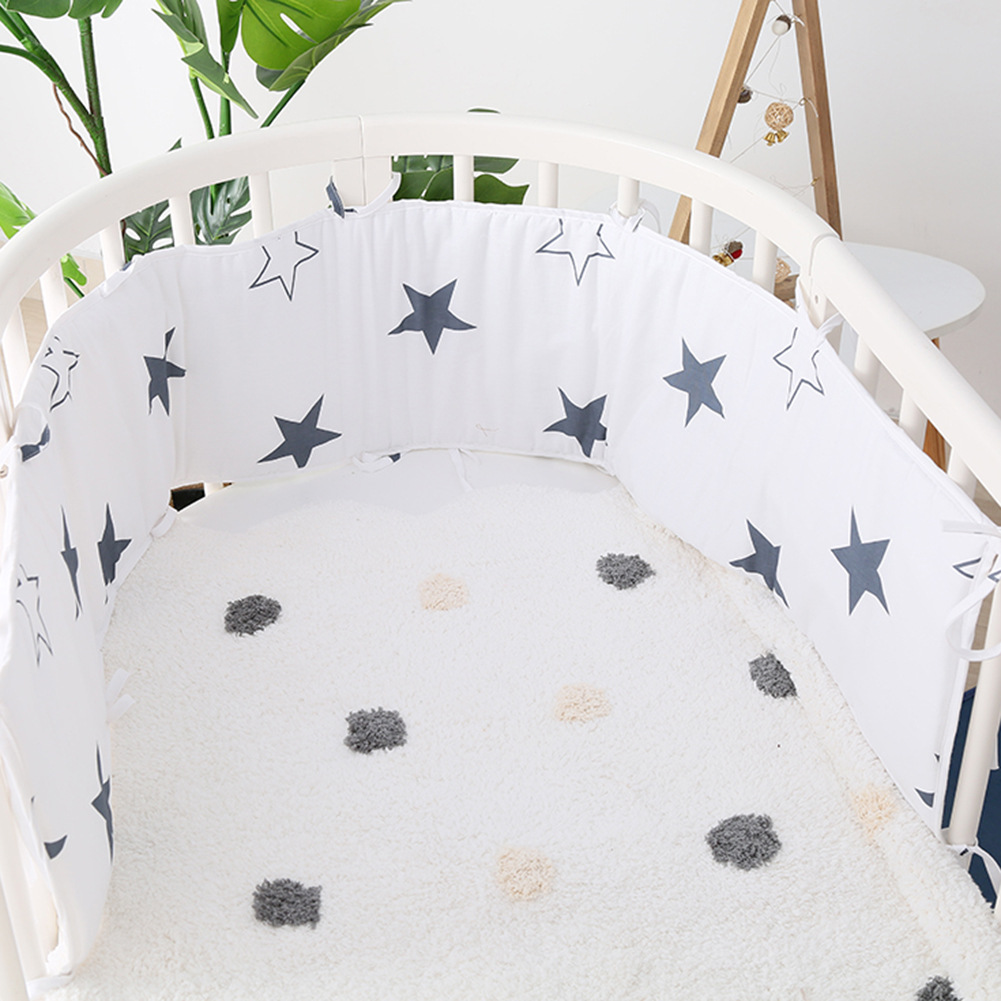 180X30cm Cotton Baby Bed Bumper for Newborn Pillow Cushion Baby Bed Protector Bumper Infant Cot Edge Room Decor