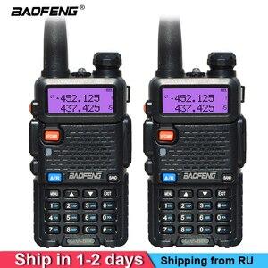 Image 1 - 2 pçs/set Pofung UV 5R BaoFeng Walkie Talkie Dual Band Rádio em Dois Sentidos Portátil Presunto Rádio Transceptor banda VHF/UHF Rádio Dual UV5R