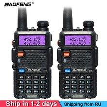 2 sztuk/zestaw BaoFeng UV 5R Walkie Talkie dwuzakresowy radiotelefon Pofung przenośny Ham Band nadajnik odbiornik radiowy VHF/Radio UHF Dual UV5R