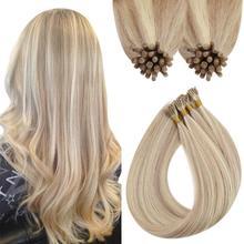 VeSunny Pre Bonded Keratin I Tip Virgin Hair Extensions 100% Real Human Hair Hot Fusion Hair I Tip Keratin 0.8g/s