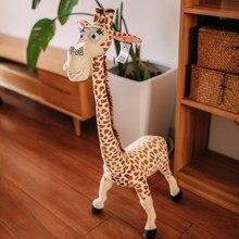 90cm brinquedos animais de pelúcia girafa boneca madagascar melman brinquedos simulação girafa produto para crianças presentes de aniversário do bebê