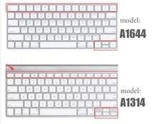 Silicone Keyboard cover Protector Skin US EU Version For Apple Bluetooth Wireless keybord MLA22LL A1644 A1314 IMAC Desktop PC(China)