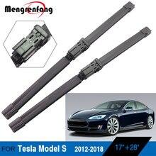 Для Tesla Model S автомобильные мягкие резиновые щетки стеклоочистителя передние стеклоочиститель кнопочные руки 2012 2013 2014 2015 2016 2017 2018