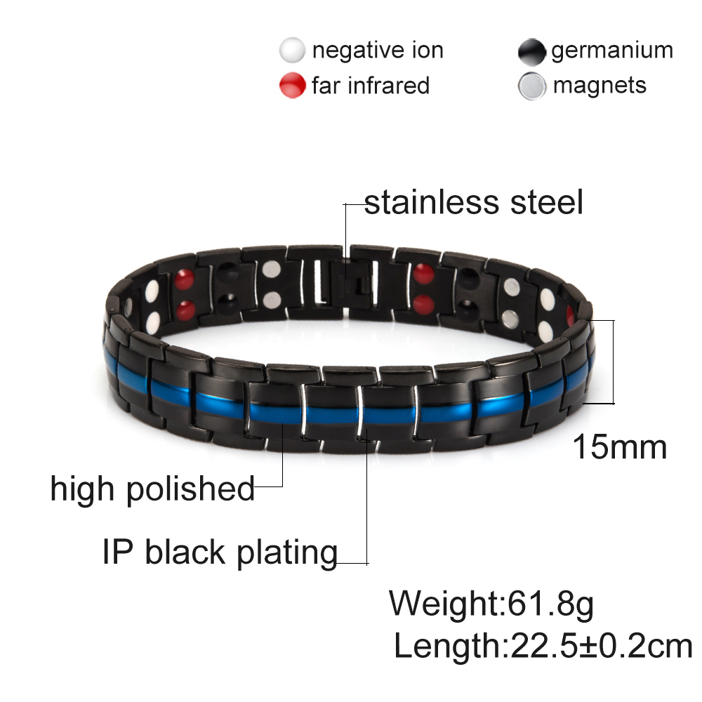 Ultimate SaleVinterly Magnetic Bracelet Hand-Chain Germanium Stainless-Steel Energy Health Women
