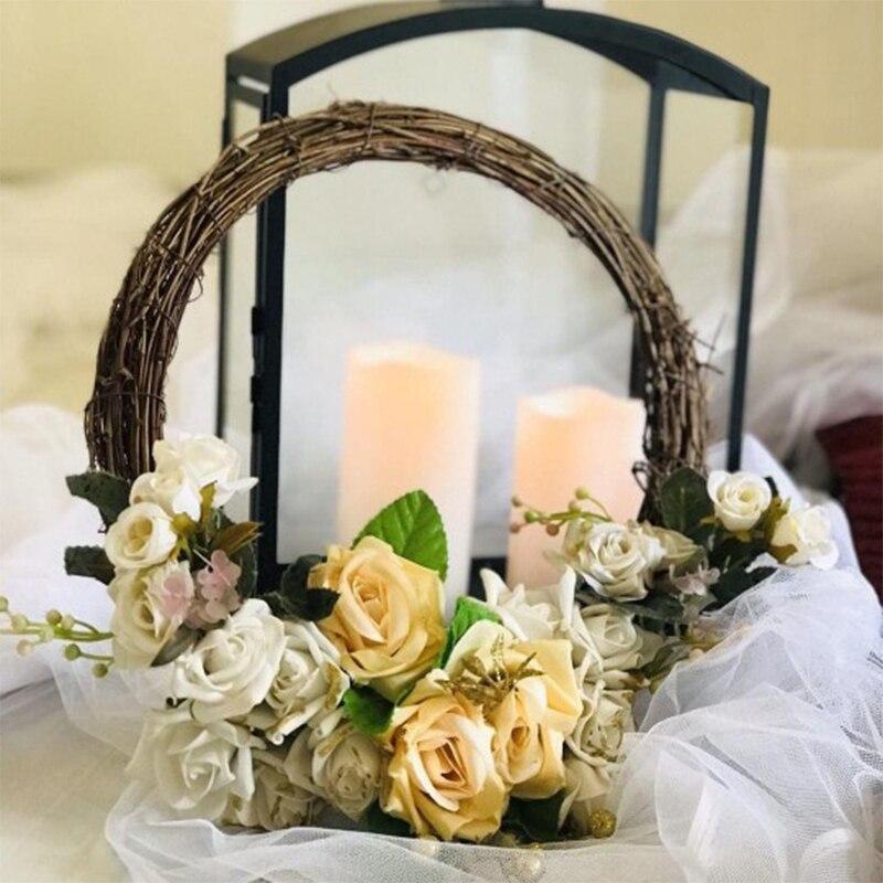 MEIDDING 10-30cm Home Decor Natural Rattan Wreath Spring Wedding Decoration Home Christmas Xmas Decor Rattan Wreath Supplies