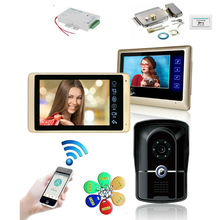 Rifd визуальный домофон 7 дюймов wifi Проводной Видео дверной телефон система внутренний монитор 1000TVL ИК камера Поддержка приложение разблокировка