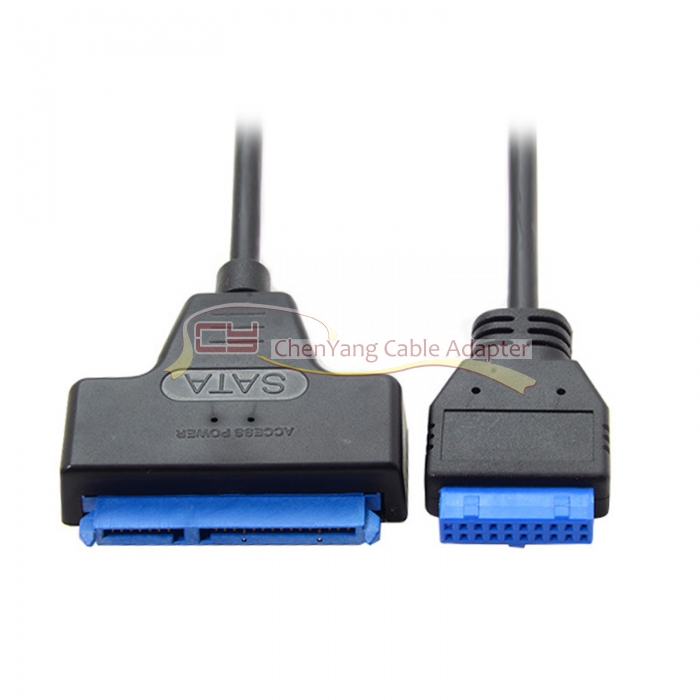 CY SATA 22Pin SSD HDD 2.5 Inch to USB 3.0 Motherboard 19Pin 20Pin Header Cable 50cm