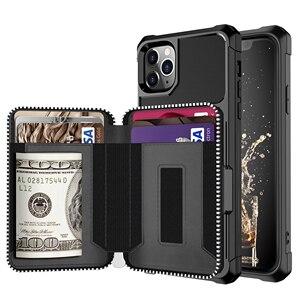 Image 1 - Luksusowe etui z portfela ze skóry PU dla iPhone 12 11 Pro Max/iPhone 12 mini etui z klapką do portfela dla iPhone 12 Pro Max Fundas