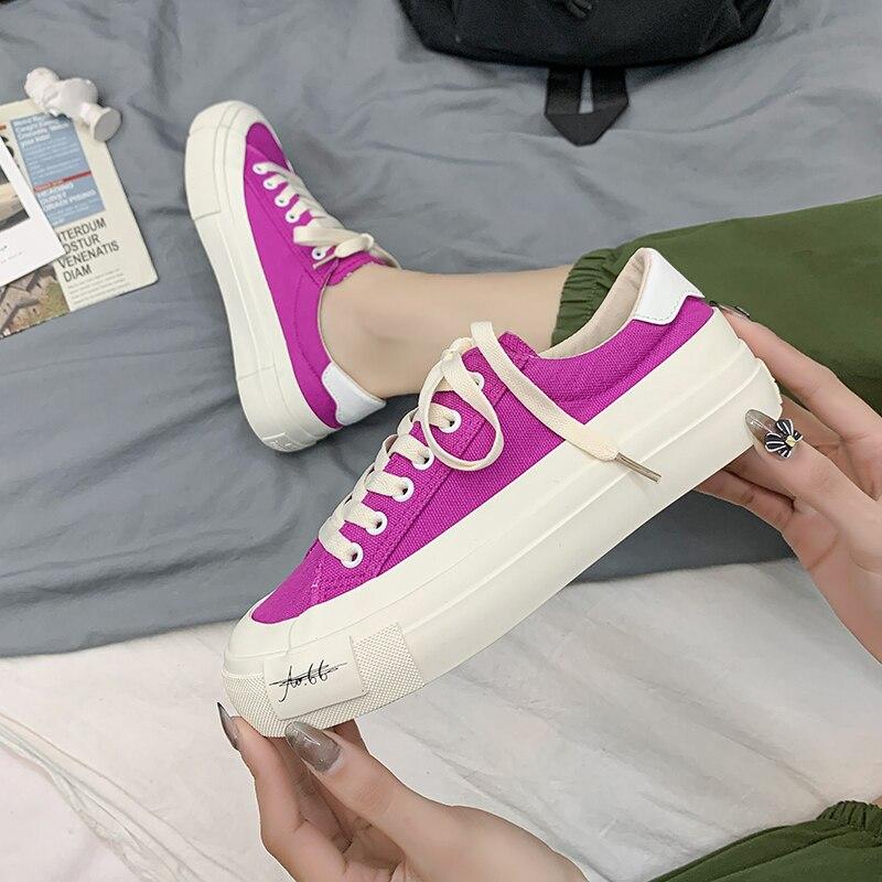 Кеды женские на платформе, Вулканизированная подошва, высокие кроссовки, повседневная прогулочная обувь, для студенток, белые, 2021