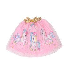 Fashional baby Girls Skirt Kids Princess unicorn print Ball Gown mesh tutu skirt for girls Children D014