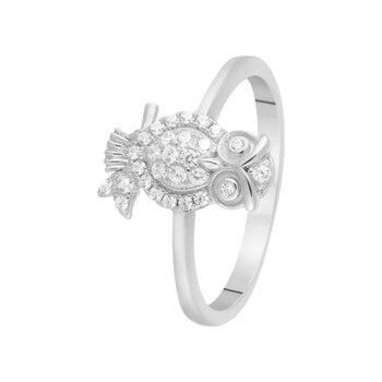 Кольцо из серебра с фианитами R00-65