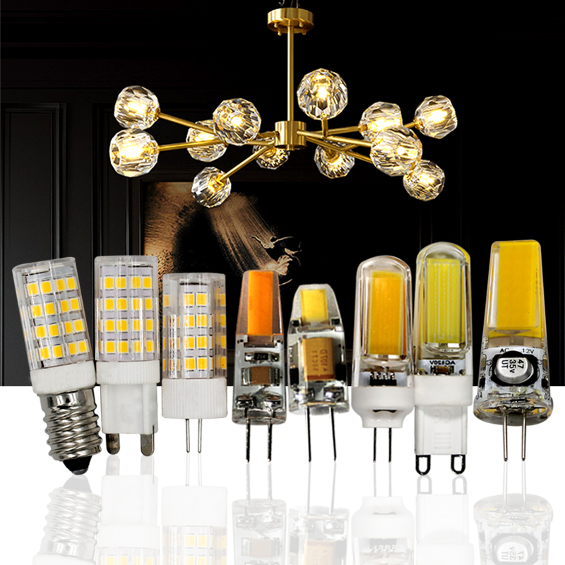 LED Lamp G4COB 12V G9 220V 3W 5W 6W 7W 9W E14 110V Light Bulb Warm White Cold White Crystal Chandeliers Light Bulb