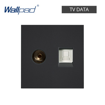 DIY EU UK Wall Socket Push Button Switch Electrical Outlet Black Function Key Only Free DIY 55*55mm S6 Series Wallpad 11