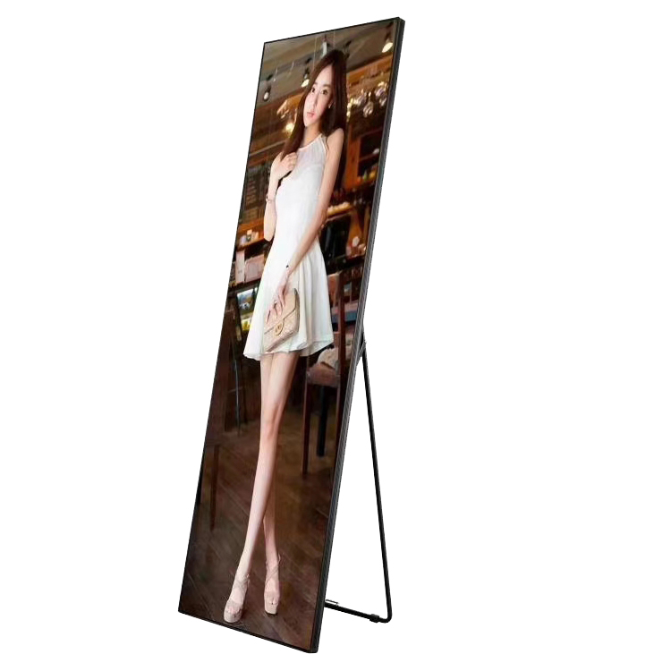 Advertising Equipment Led Poster Indoor Smart USB WIFI 4G HDMI P2 Led Screen Stand