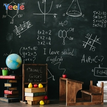 Yeele Blackboard Books Fruit Math Class Back to School Table Photography Backgrounds Photographic Backdrops for Photo Studio