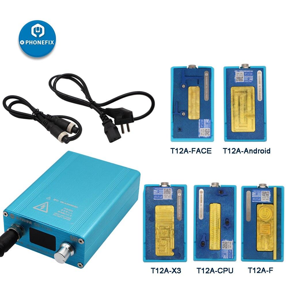 SS-T12A zestaw stacji lutowniczej do naprawy płyty głównej narzędzie do iphone'a 6 7 8 X XS telefon komórkowy CPU NAND naprawa ogrzewania