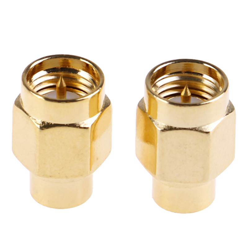 2pcs 2W 6GHz <font><b>50</b></font> Ohm <font><b>SMA</b></font> Male RF Coaxial Termination Dummy Load Gold Plated Cap Connectors Accessories image