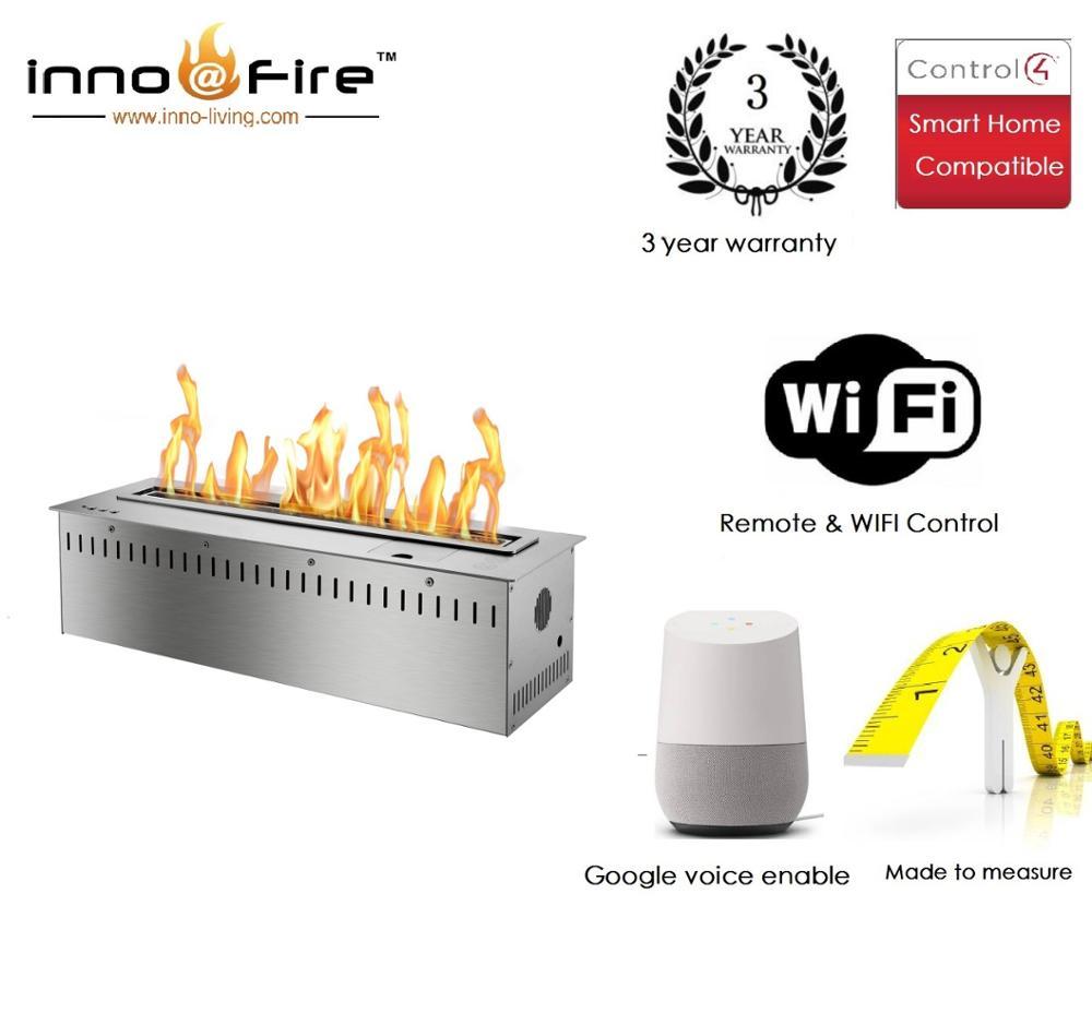 Inno Living Fire 36 Inch Ethanol Burner Wifi Bio Fireplaces