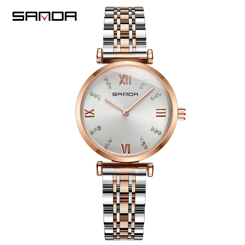 SANDA Women's Watches Quartz Watches with Rhinestones Sports Watch Clock Luxury Lady Christmas Woman Watch Waterproof Female