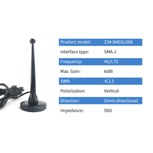 Image 2 - 4 4G LTE アンテナ磁気ベース無線 Lan SMA 男性無指向性 Antena DTU 無線モジュール空中 TX4G TB 300