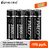Pilas recargables AA para juguetes, baterías de iones de litio de 1,5 v, 2-16 Uds., 2800mWh, 1,5 v, AA, 2A, para linterna de cámara