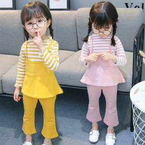 Spring Autumn Baby Girl Clothes New Girls' Clothing Sets Kids Bay Clothes Toddler Long Sleeve Tops Blouse Pants Trousers 1-5Y