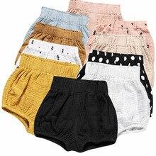 Girls Shorts Pants Trouser Bloomers Linen Toddler Newborn-Baby Summer Kawaii Cotton Solid