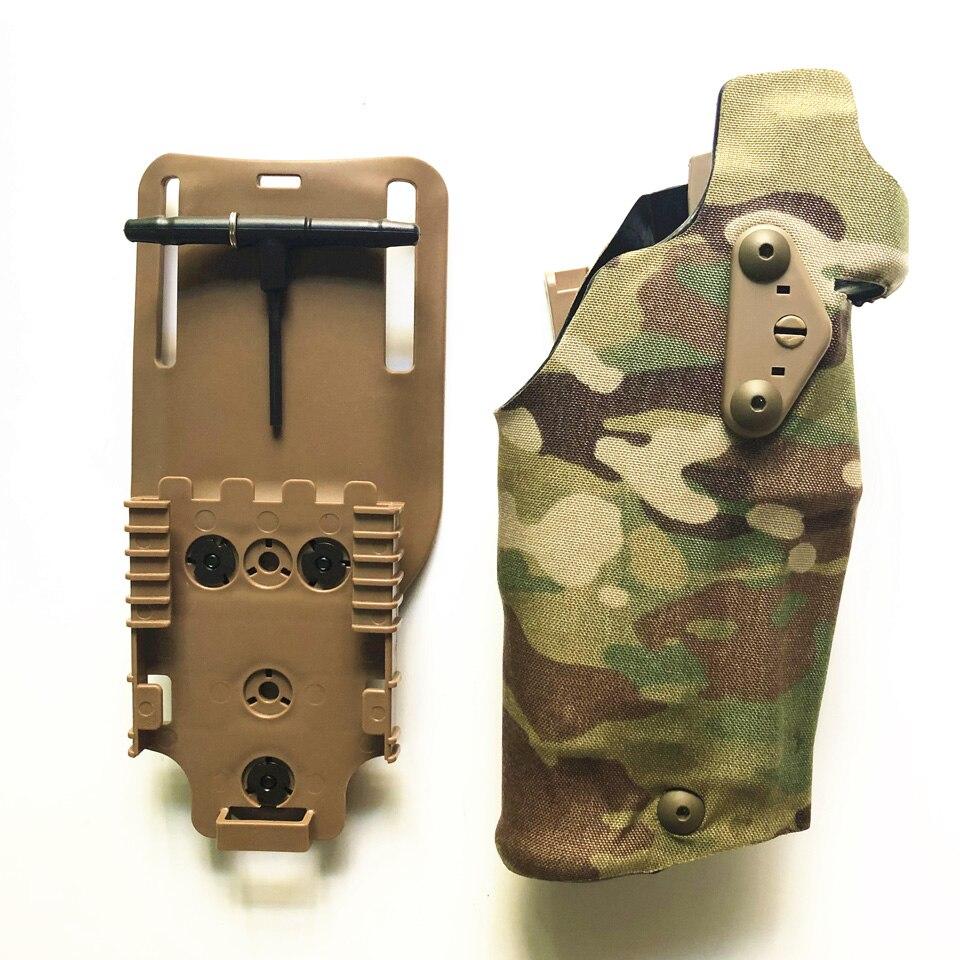 2020 TMC Airsoft Holsters Glock17, G18,G19 X300 Holster Drop Adapter Quick Release Holster Gaiter Belt Set Military Holster