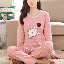 2Pcs Women Pyjamas Set Thin Flannel Dot Pajamas Set