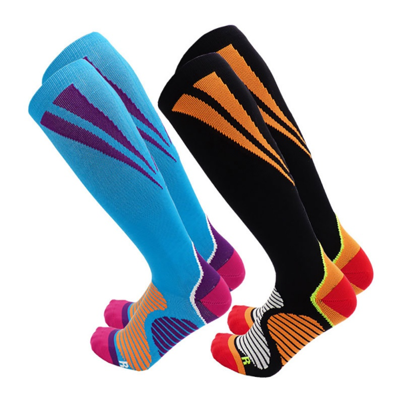 Sport Compression Socks For Men And Women Knee High Made Cycling Ski Socks For Running/Athletics/Pregnancy And Travel