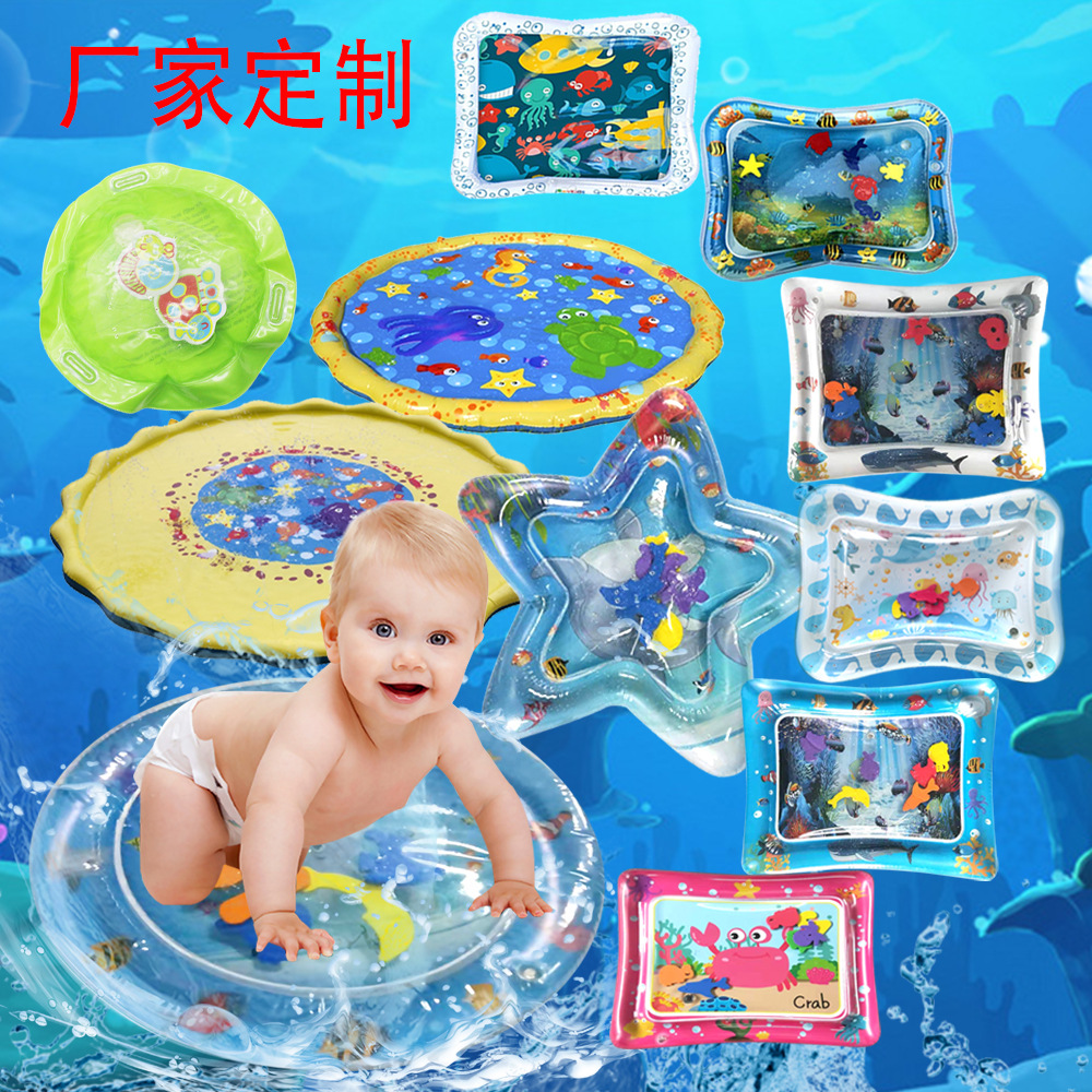 Creative Dual Use Toys Baby Inflatable Patted Pad Baby Inflatable Water Cushion Infant Play Mat Toddler Funny Pat Pad Toys