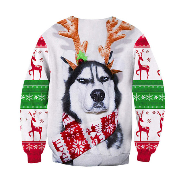 Funny Christmas Sweater Men Women Ugly Christmas Sweater For Holidays Santa Elf Sweater Autumn Winter Pullover Sweaters Clothing 6
