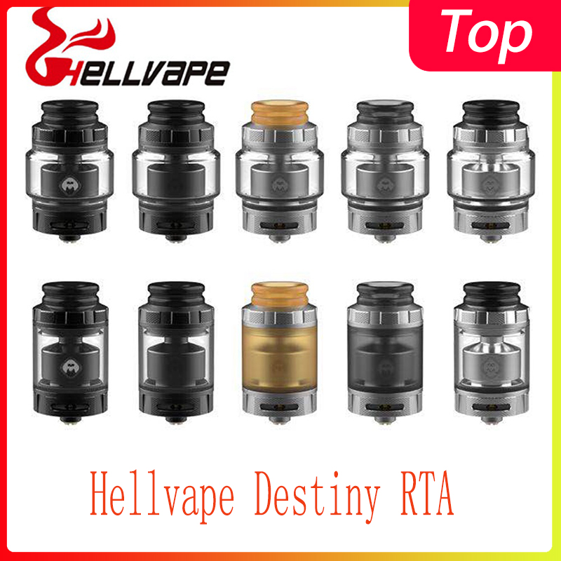 Newest Vape Tank Hellvape Destiny RTA With 2ml/4ml Tank Capacity&810 Drip Tip Electronic Cigarette Atomizer
