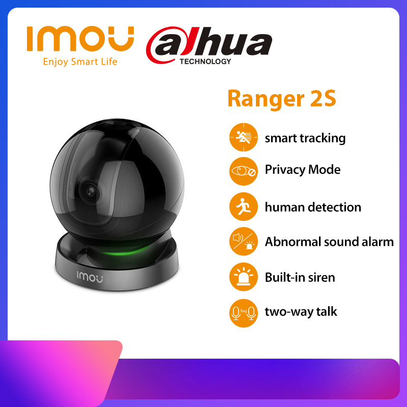 Permalink to Dahua imou Ranger 2S 1080P Wifi IP Camera Home Security 360 Camera AI Human Detection Baby Phone Camera Night Vision ptz Camera