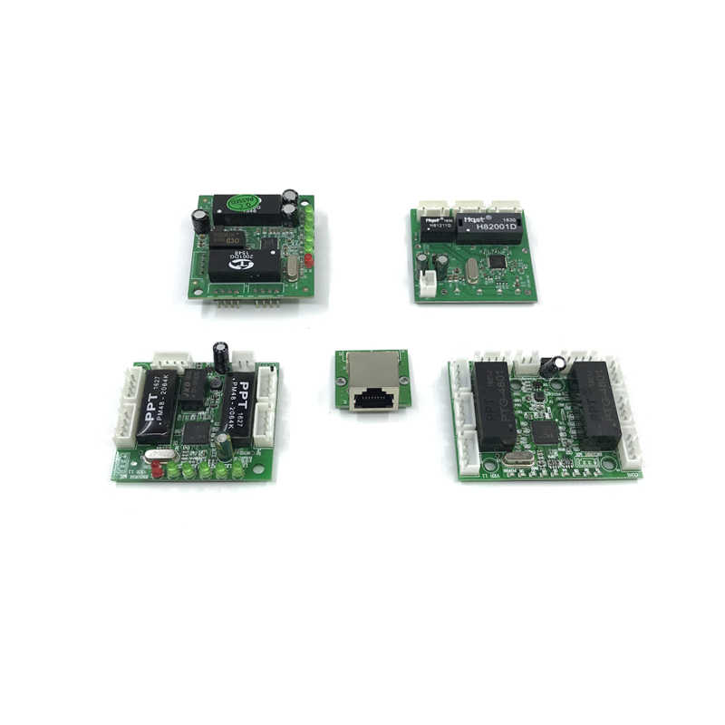 Bordo Pcba Mini Design Del Modulo Ethernet Interruttore di Circuito per Modulo Switch Ethernet 10/100 Mbps Oem Scheda Madre 3 /5/6/8 Porta
