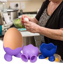 Creative Environmentally Friendly Kitchen Gadgets High Temperature Resistant Silicone Egg Steamer Poacher Food Grade Holder