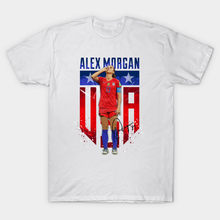 T-shirt homme Alex Morgan sirotant thé t-shirt femme t-shirt(China)