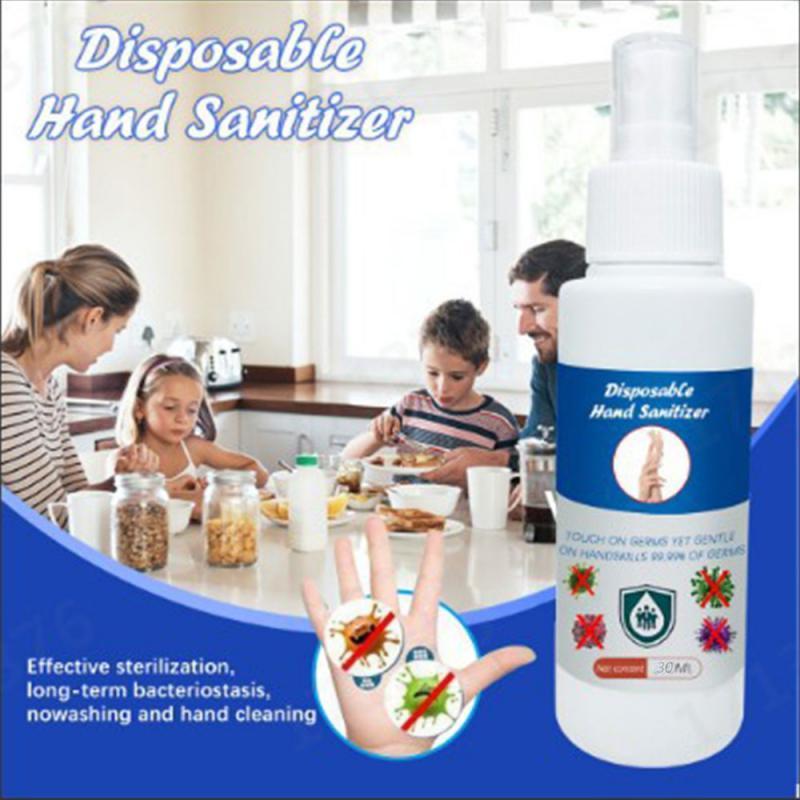 30ml 75% Alcohol Spray Disinfection Rine-free Hand Sanitizer Portable Disposable Prevention Hand Sanitizer Hand Spray Gel Bottle
