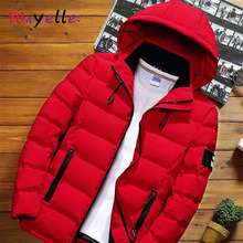 New Men Winter Jackets Coats  Fashion Hooded Warm Casual Men's Coat Jacket Slim Fit Solid Simple Overcoat and Jackets For Man men fashion brand man coat thick coats jackets warm men s outdoors hooded overcoat plus size