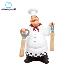 Strongwell American Country Retro Chef Resin Crafts Modern Home Decoration Accessories Bar Restaurant Cafe Cake Shop Furnishings