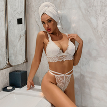 Miss Zia Bra Thong Set Lace White Bra Underwear Women Set Brassiere Top Sexy Intimates Lingerie Femme Hot Underwear amp Sleepwears cheap CN(Origin) Back Closure Tow Hook-and-eye Unlined Floral Wire Free Polyester Ultra-ThinThick Three Quarters(3 4 Cup) Adjusted-straps