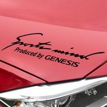 Autocollant de décoration de phare pour Hyundai Genesis, autocollant réfléchissant à sourcils, accessoires de voiture