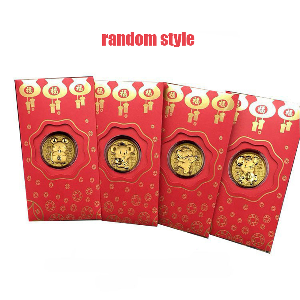 2020 Chinese Rat Year HongBao Red Envelopes New Year Red Pocket With Commemorative Coins For Spring Festival