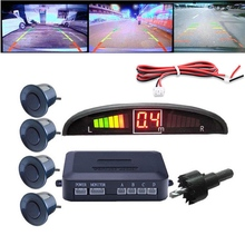 4 park sensörleri LED ekran araba yedekleme ters Radar sistemi uyarı alarmı kiti araba aksesuarları
