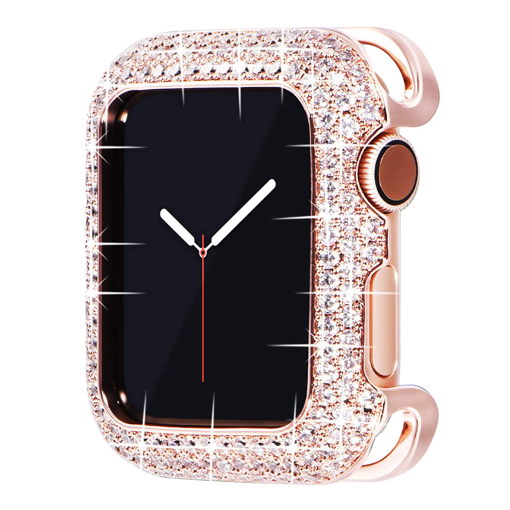 Jewelry-Protective-Cover Bling-Case Crystal Apple Watch Bronze 3-40mm-Frame Cubic-Zirconia