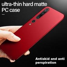Ultradunne Hard Matte Pc Telefoon Case Voor Xiaomi Mi 10 9 8 Se T Lite Pro Redmi Note 10 9 8 7 6 Max Luxe Frosted Bescherming Cover