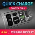 Новое автомобильное Usb Toyota автомобильное зарядное устройство для мобильного телефона 12В 24В адаптер двойной Usb 4.2A прикуриватель для смартфо...