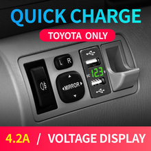 New Car Usb Toyota Auto Charger for mobile phone 12V 24V Adapter Dual Usb 4.2A Cigarette Socket Lighter For Smart Phone Voltage